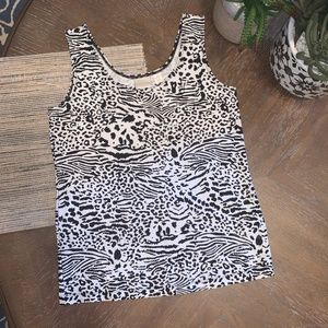New! Chico's 0 Animal-Leopard  Print Casual Top